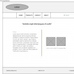 Wireframe for About webpage