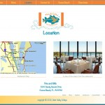 Restaurant website location page