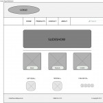 Wireframe for Home webpage