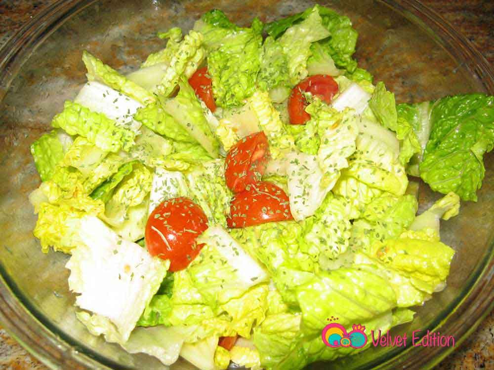 garden salad with lemon mint dressing recipe - Garden Salad Recipe