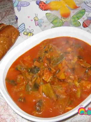 Leeks in Tomato Sauce Recipe