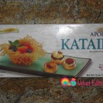 Packaged kataifi dough found in the freezer section.