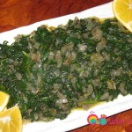 Steamed-Spinach-with-Caramalized-Onions