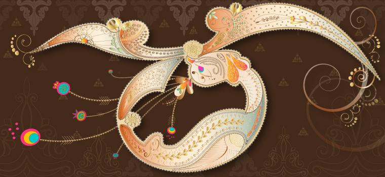 Velvet Edition Mehndi Inspired Bird Design