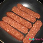 In a small skillet on medium heat place a couple of slices and cook till lightly browned.