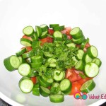 Chop the vegetables and place them in a large bowl.