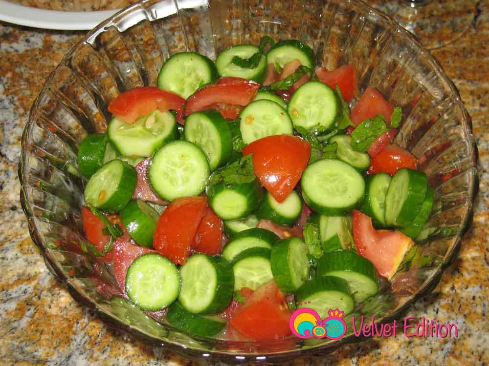 Cucumber Tomato and Fresh Mint Salad