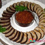 Garnish with parsley leaves and add Muhammarah in the center.