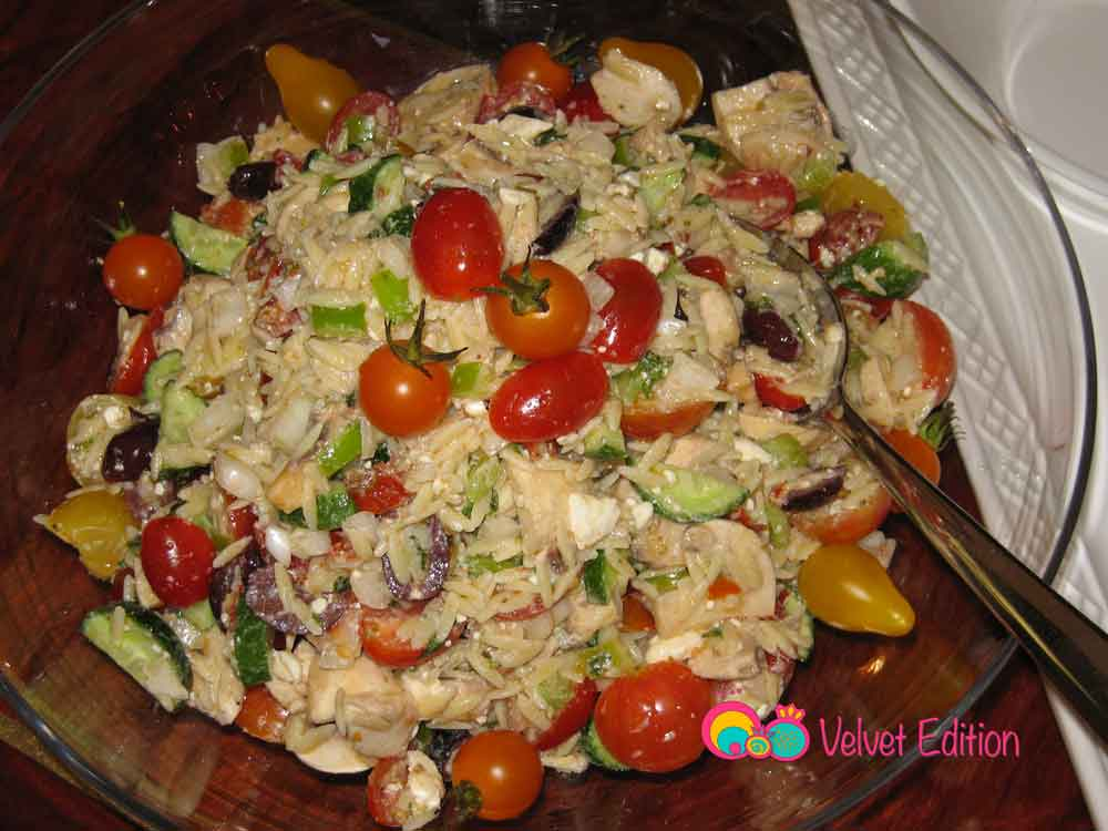 Greek Orzo Feta Salad