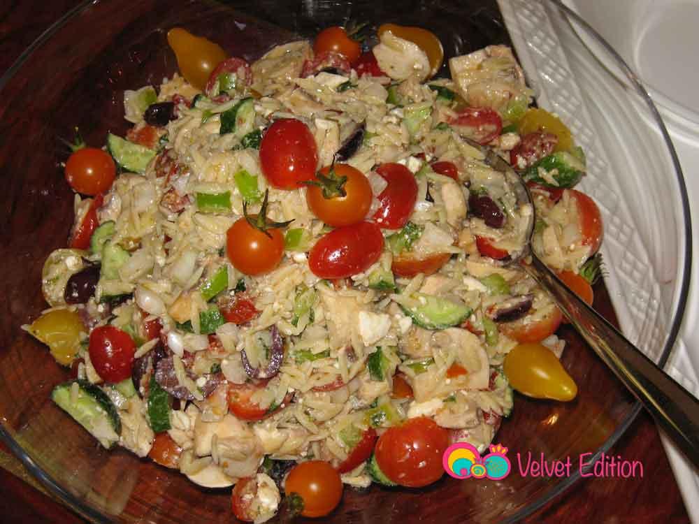 Greek Orzo Feta Salad