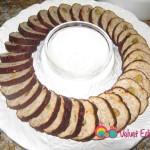 Arrange on a chip and dip platter.