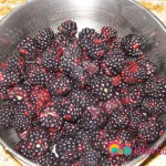 Wash and drain the berries.